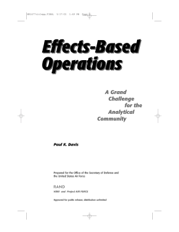Effects-Based Operations A Grand Challenge