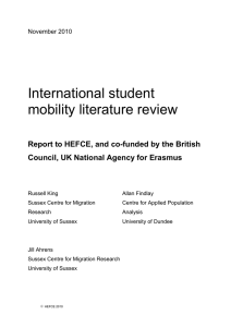 International student mobility literature review