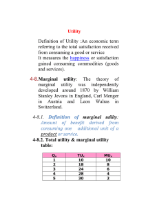 Utility Definition  of  Utility  :An  economic ... referring to the total satisfaction received