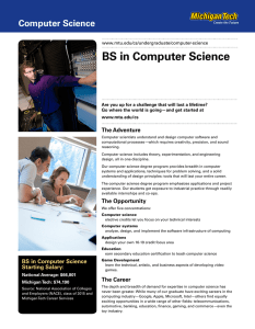 BS in Computer Science Computer Science