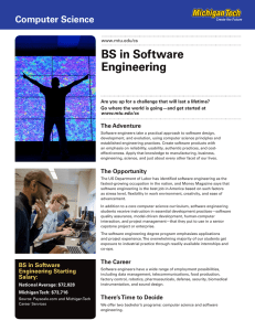 BS in Software Engineering Computer Science The Adventure