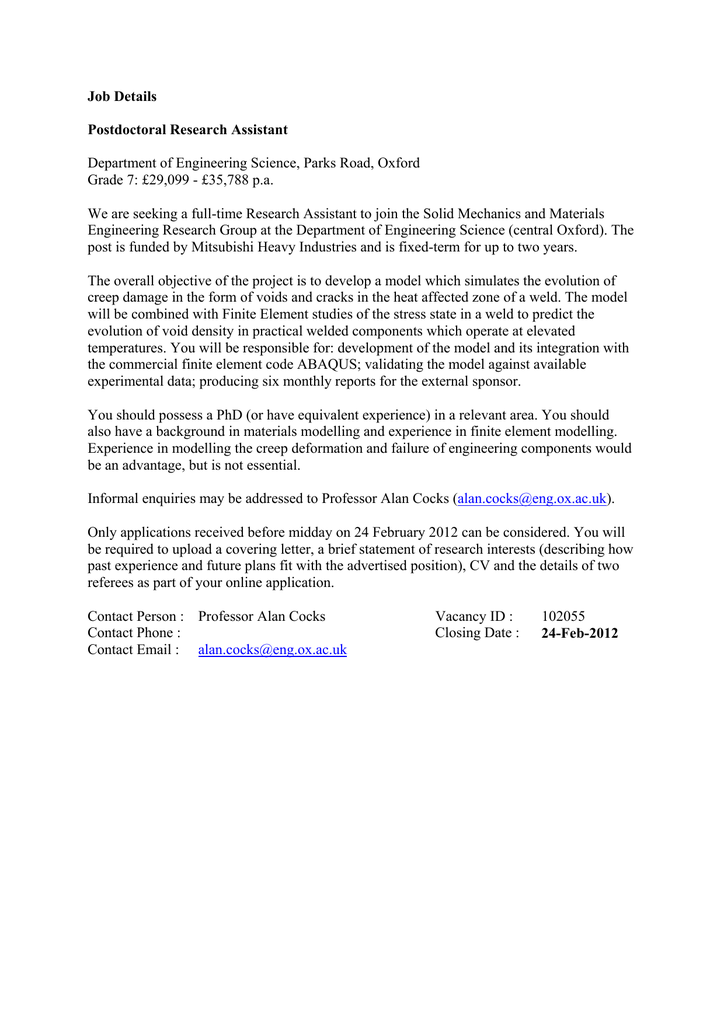 Online dating postdoctoral position