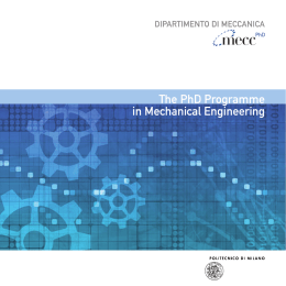 The PhD Programme in Mechanical Engineering PhD
