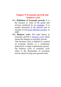 Chapter 9: Economic growth and business cycle