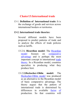 Chater13:International trade