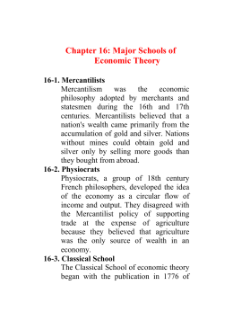Chapter 16: Economic Theory