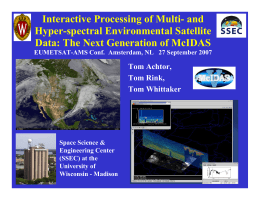 Interactive Processing of Multi- and Hyper-spectral Environmental Satellite