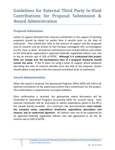 Guidelines  for  External  Third  Party ... Contributions  for  Proposal  Submission  & Award Administration