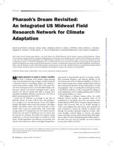 Pharaoh's Dream Revisited: An Integrated US Midwest Field Research Network for Climate Adaptation
