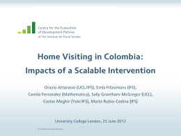 Home Visiting in Colombia: Impacts of a Scalable Intervention of Development Policies