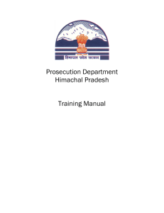 Prosecution Department Himachal Pradesh Training Manual