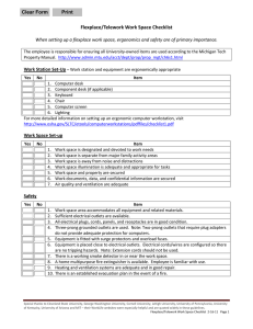 Flexplace/Telework Work Space Checklist