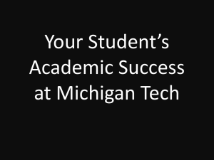 Your Student's Academic Success at Michigan Tech
