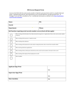 SSN Access Request Form