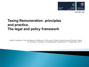 Taxing Remuneration: principles and practice. The legal and policy framework