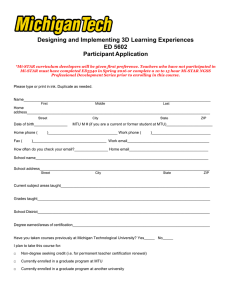 Designing and Implementing 3D Learning Experiences ED 5602 Participant Application