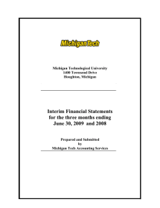 Interim Financial Statements for the three months ending June 30, 2009 and 2008