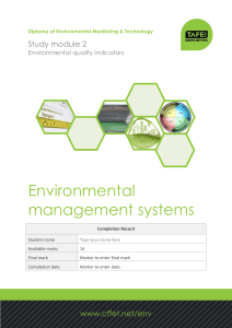 Environmental management systems Study module 2