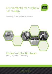 Environmental Fieldwork Environmental Monitoring & Technology