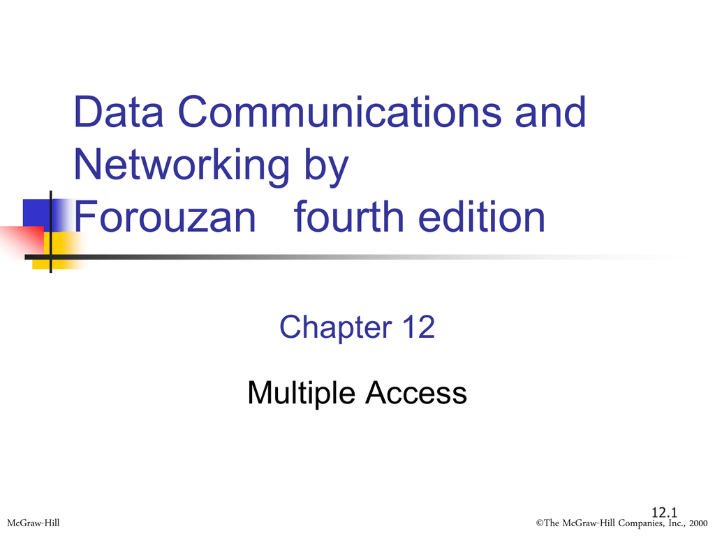 Data Communications And Networking By Forouzan Fourth