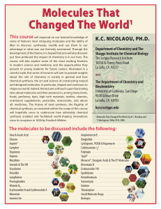 Molecules That Changed The World 1 K.C. NICOLAOU, Ph.D.