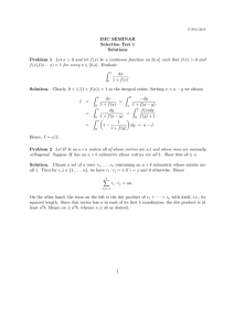IMC SEMINAR Selection Test 1 Solutions