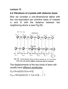 Lecture 13 4-2 Vibrations of crystals with diatomic basis