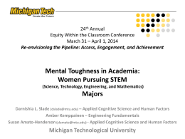 Mental Toughness in Academia: Women Pursuing STEM Majors 24