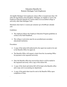 Education Benefits for Remote Michigan Tech Employees