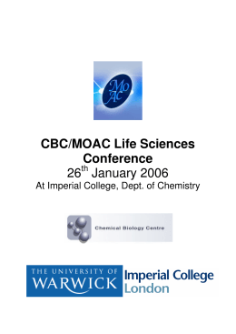 CBC/MOAC Life Sciences Conference 26 January 2006