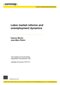 Labor market reforms and unemployment dynamics