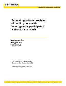 Estimating private provision of public goods with heterogenous participants: a structural analysis