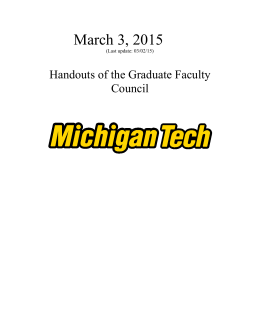 March 3, 2015 Handouts of the Graduate Faculty Council 03/02/15)