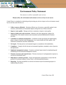Environment Policy Statement