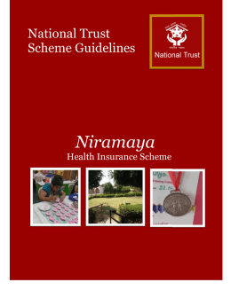 Niramaya National Trust Scheme Guidelines Health Insurance Scheme