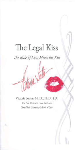 The Legal Kiss The Rule of Meets  the Kiss
