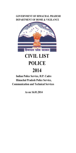 CIVIL LIST POLICE 2014