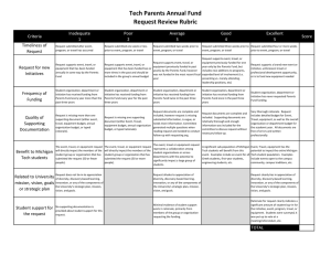 Tech Parents Annual Fund Request Review Rubric Inadequate Poor