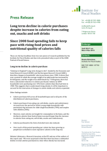 Press Release Long term decline in calorie purchases