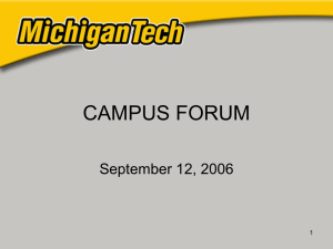 CAMPUS FORUM September 12, 2006 1