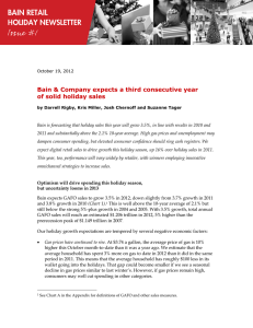 Bain & Company expects a third consecutive year