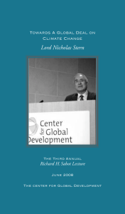 Lord Nicholas Stern Towards A Global Deal on Climate Change
