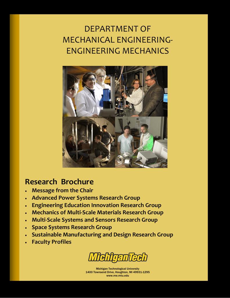 DEPARTMENT OF MECHANICAL ENGINEERING‐ ENGINEERING MECHANICS
