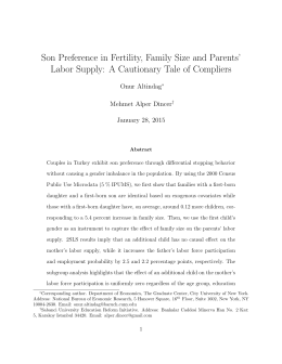 Son Preference in Fertility, Family Size and Parents' Onur Altindag