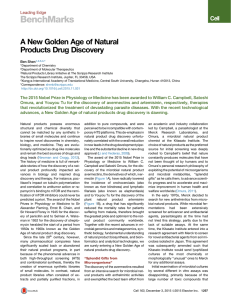 BenchMarks A New Golden Age of Natural Products Drug Discovery Leading Edge
