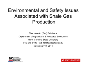 Environmental and Safety Issues Associated with Shale Gas Production