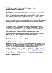 PhD Studentship in Multiscale Modelling of Polymer Nanocomposite Manufacturing