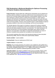PhD Studentship in Multiscale Modelling for Optimum Processing of Polymer-Graphene Nanocomposites