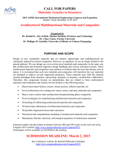 CALL FOR PAPERS Architectured Multifunctional Materials and Composites Materials: Genetics to Structures