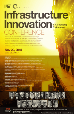 Infrastructure Innovation CONFERENCE In A Changing